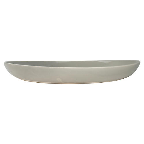 Shell Bisque Salad Bowl, Gray