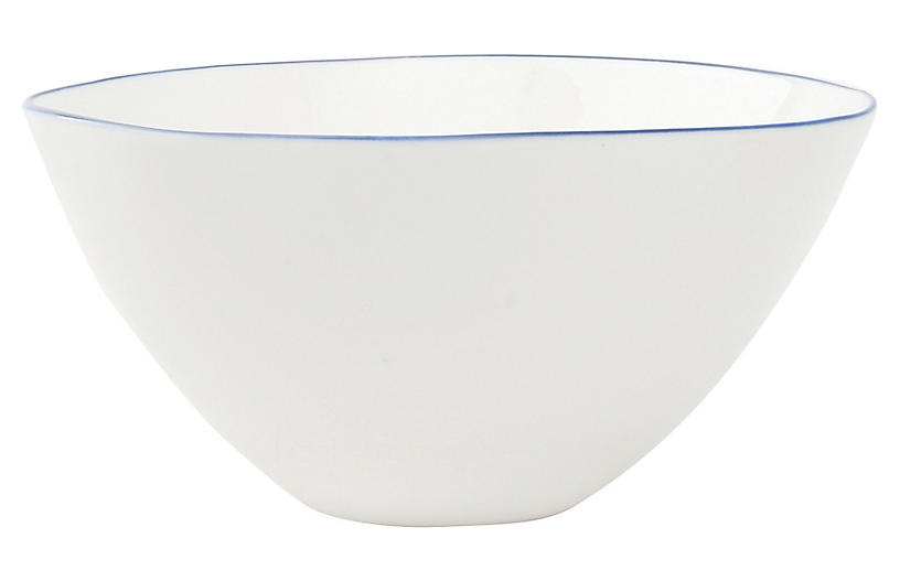 S/4 Abbesses Bowls, White/Blue