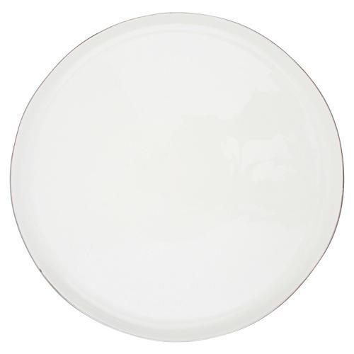 S/4 Abbesses Dinner Plates, White/Platinum