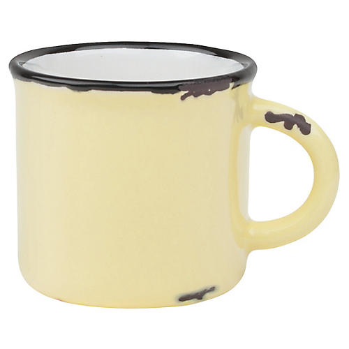 S/4 Tinware Espresso Cups, Yellow
