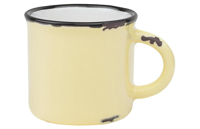 S/4 Tinware Espresso Cups, Yellow