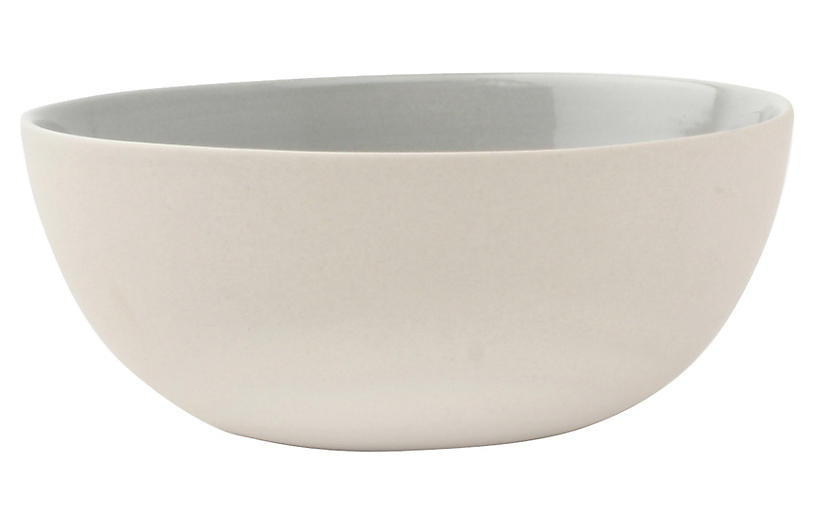 S/4 Shell Bisque Bowls, Gray