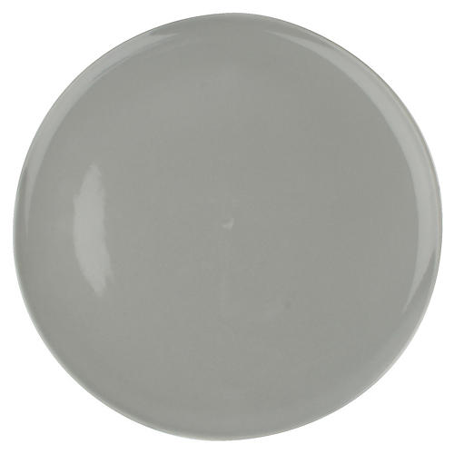 S/4 Shell Bisque Dinner Plates, Gray