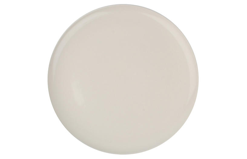 S/4 Shell Bisque Dinner Plates, White