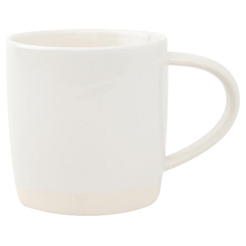 S/4 Shell Bisque Mugs, White
