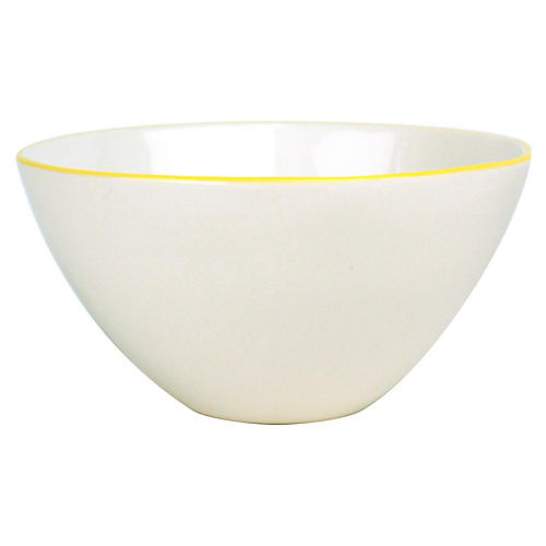 S/2 Abbesses Serving Bowls, White/Yellow