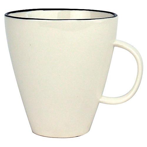 S/4 Abbesses Mugs, White/Black