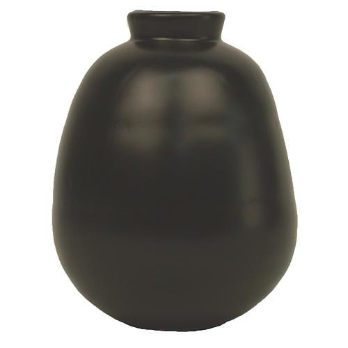 """5"""" Morandi Tall Bud Vase, Black"""