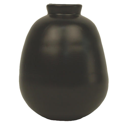 "5"" Morandi Tall Bud Vase, Black"