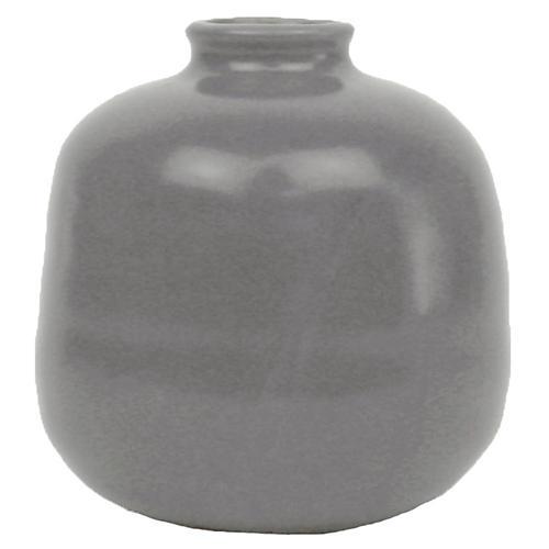 "4"" Morandi Large Bud Vase, Gray"