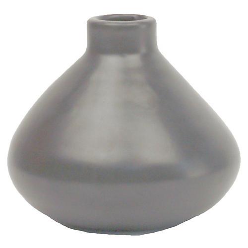 "4"" Morandi Wide Bud Vase, Gray"