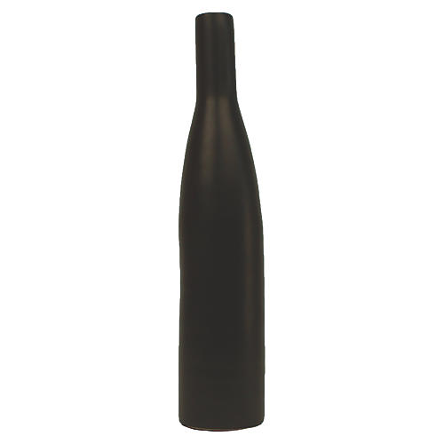"10"" Morandi Large Bottle Vase, Black"