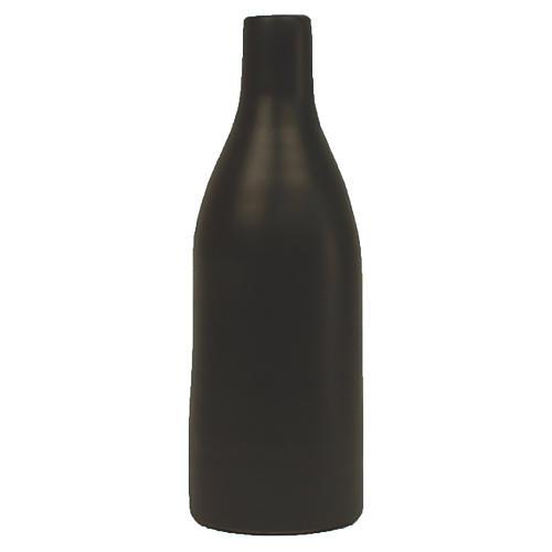 "7"" Morandi Small Bottle Vase, Black"
