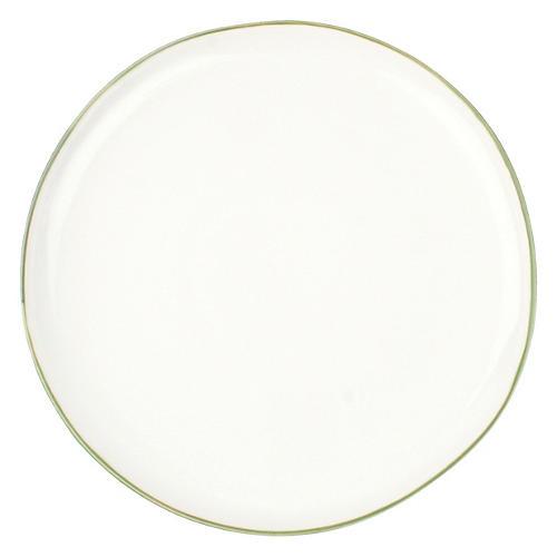 S/4 Abbesses Salad Plates, White/Green