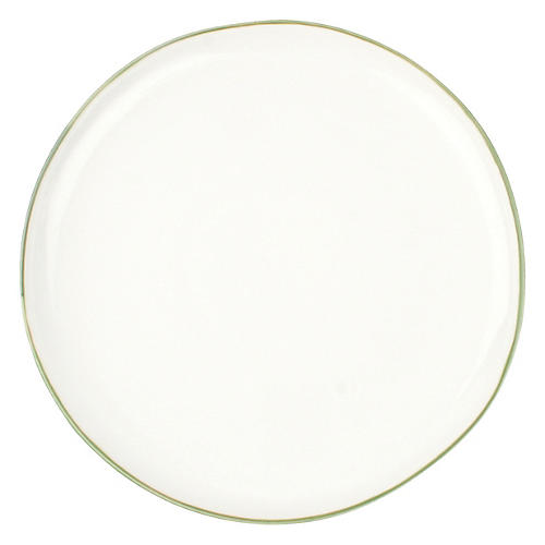 S/4 Abbesses Salad Plates, White/Green