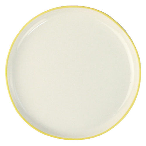 S/4 Abbesses Bread Plates, White/Yellow