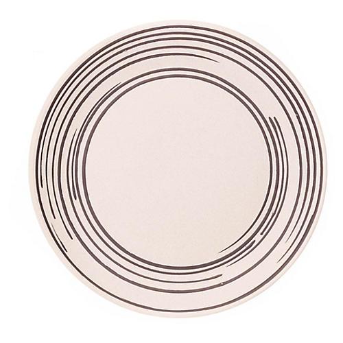 S/4 Salamanca Salad Plates, White/Black