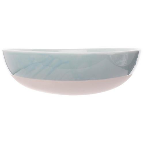 Shell Bisque Round Serving Bowl, Mist