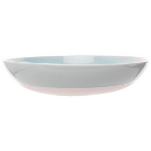 S/4 Shell Bisque Pasta Bowls, Mist