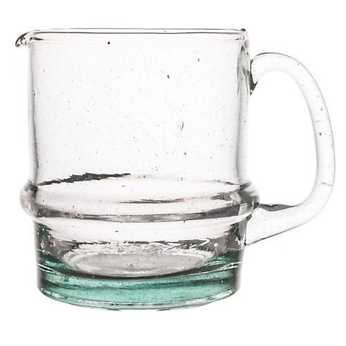 Moroccan Water Jug, Clear/Aqua
