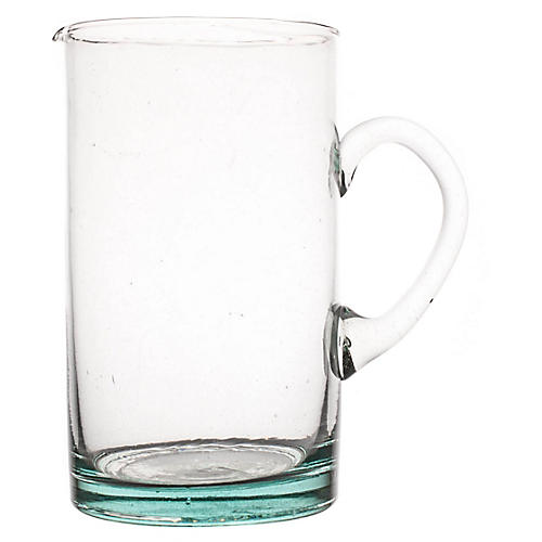 Moroccan Pitcher, Clear/Aqua