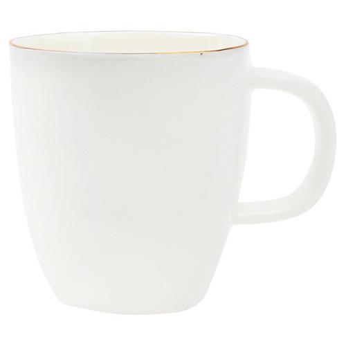 S/4 Abbesses Espresso Cups, White/Gold