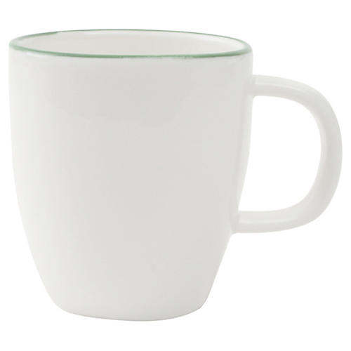 S/4 Abbesses Espresso Cups, White/Green