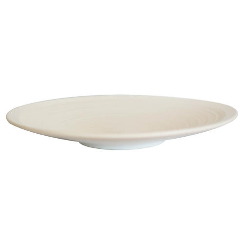 "23"" Anabra Decorative Platter, White"