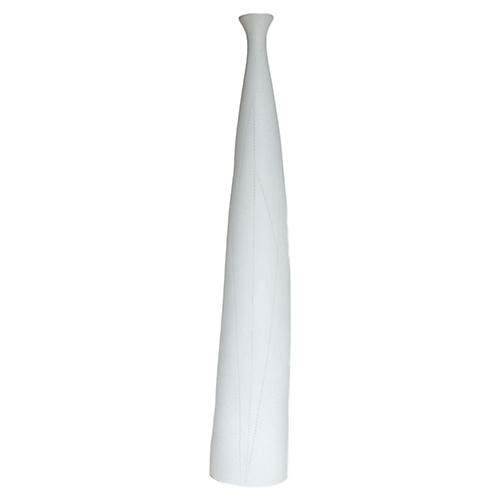 "21"" Taroudant Small Stem Vase, White"