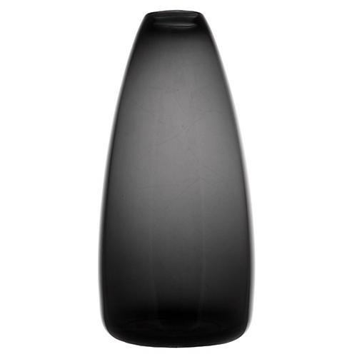 "9"" Wren Tall Vase, Smoke"