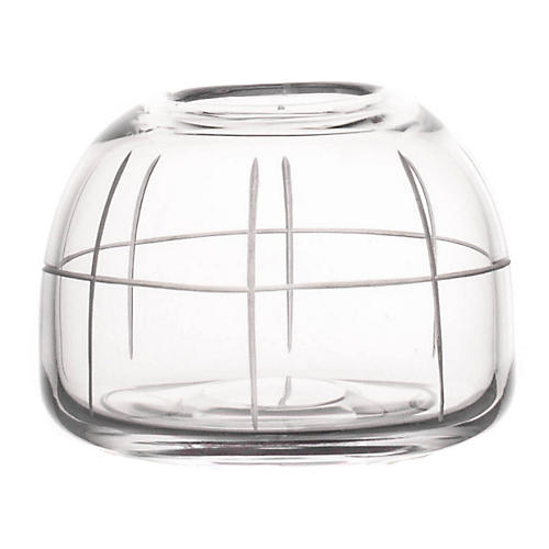 "4"" Wren Dome Grid Vase, Clear"