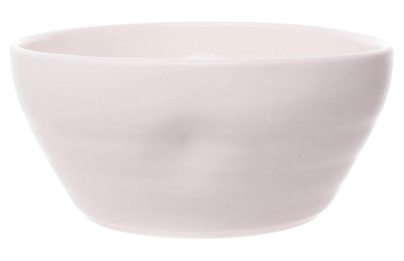 S/4 Pinch Cereal Bowls, White