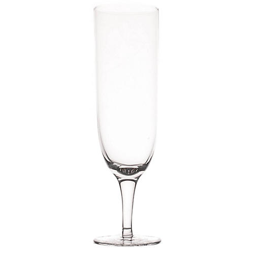 S/4 Amwell Champagne Flutes, Clear