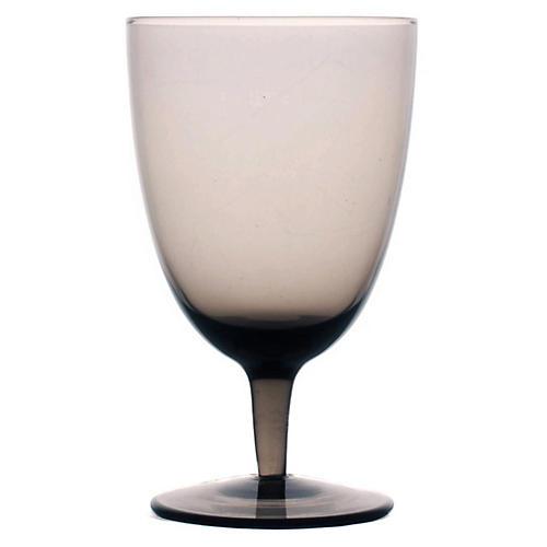 S/4 Amwell White-Wine Glasses, Smoke