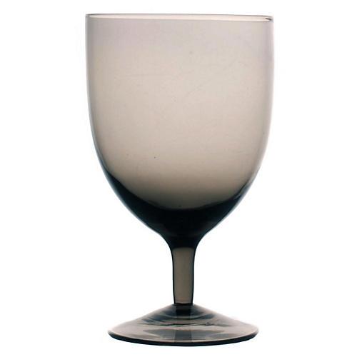 S/4 Amwell Red-Wine Glasses, Smoke