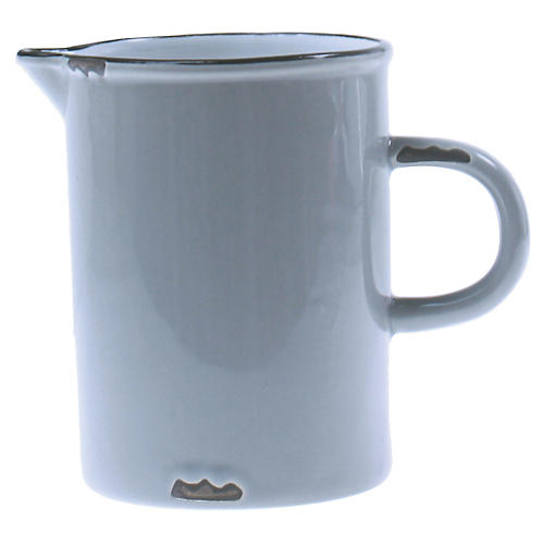 Tinware Creamer, Light Gray/Black