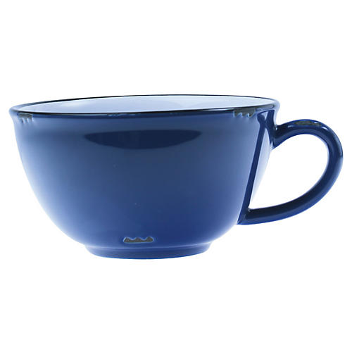 Tinware Latte Cup, Blue