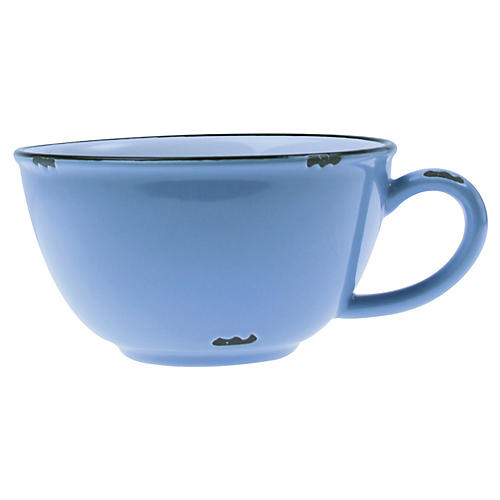 Tinware Latte Cup, Light Blue