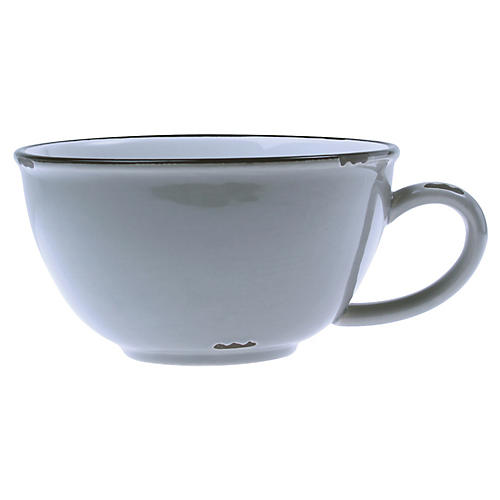 Tinware Latte Cup, Light Gray