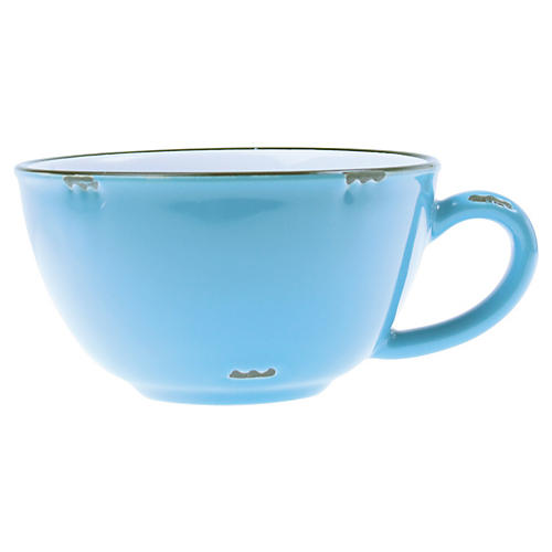 Tinware Latte Cup, Teal