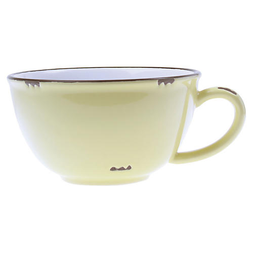 Tinware Latte Cup, Yellow