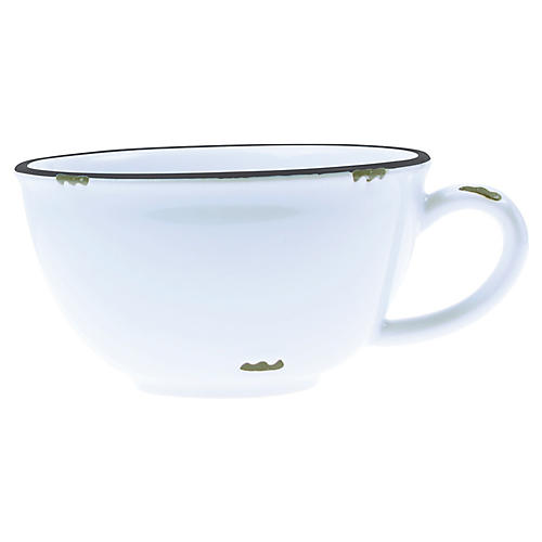 Tinware Latte Cup, White/Slate