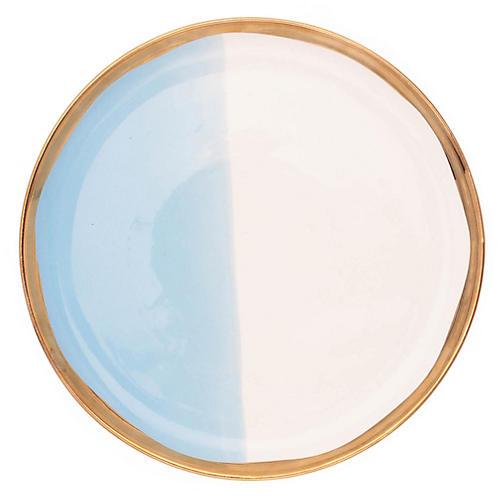 S/4 Dauville Salad Plates, White/Multi