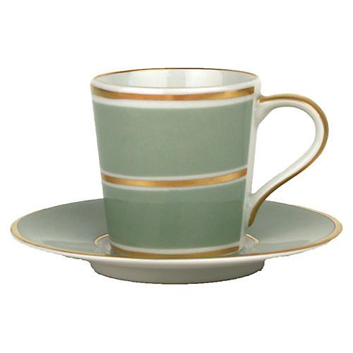 4-Pc La Vienne Espresso Set, Celadon