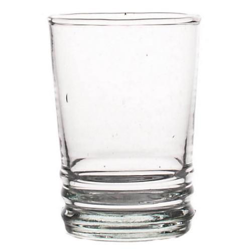 S/6 Cordial Glasses, Clear/Aqua