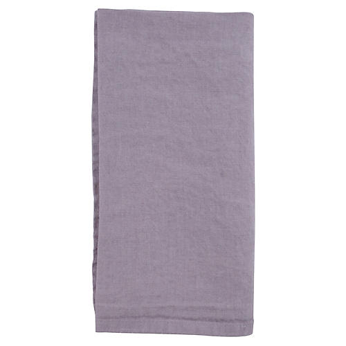 S/4 French Linen Dinner Napkins, Lilac