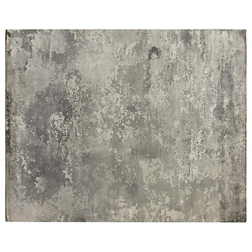 Gray Space Waters Rug, Gray/Ivory