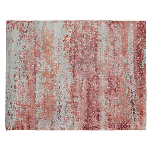 Lorni Hand-Knotted Rug, Pink/Multi