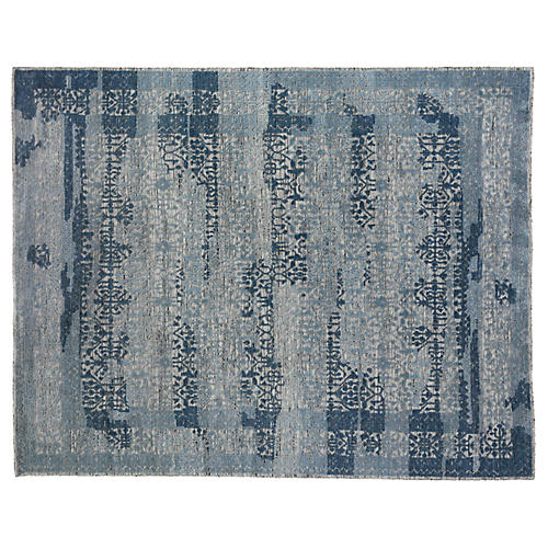 Karis Hand-Knotted Rug, Blue