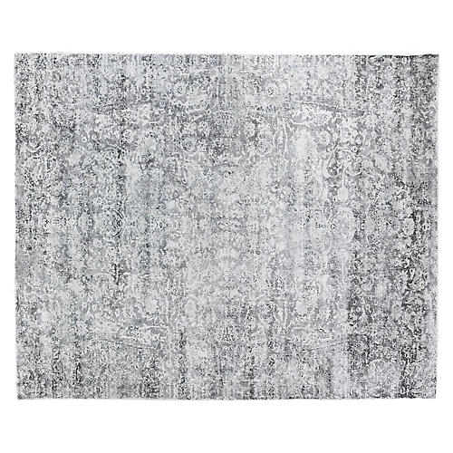 Link Hand-Knotted Rug, Gray